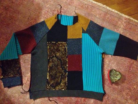Patchworksweater_DIY_Sweater nähen_Raglansweater