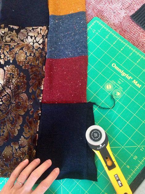Patchworksweater_DIY_Sweater nähen_Zuschnitt