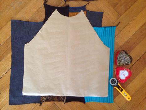 Patchworksweater_DIY_Sweater nähen_Zuschnitt_Vorderteil