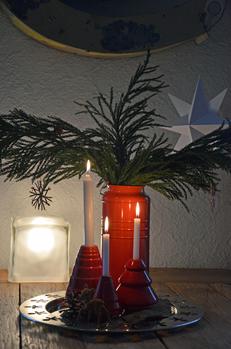 Kerzenständer_Kähler_Papiersterne_DIY_Blechvase_IKEA
