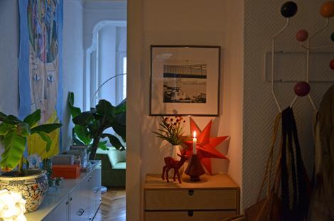 Flur_Wohnzimmer_golden cage_ Papierstern_DIY