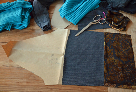 Patchworksweater_DIY_Sweater nähen_Raglanärmel_Zuschnitt