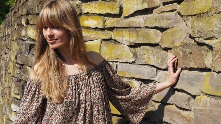 Ein Schnitt – 2 Teile: Off Shoulder Maxikleid selbernähen