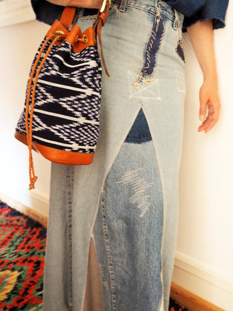 Jeansmaxirock_Vintage_Zaida Bag_FOLKDAYS