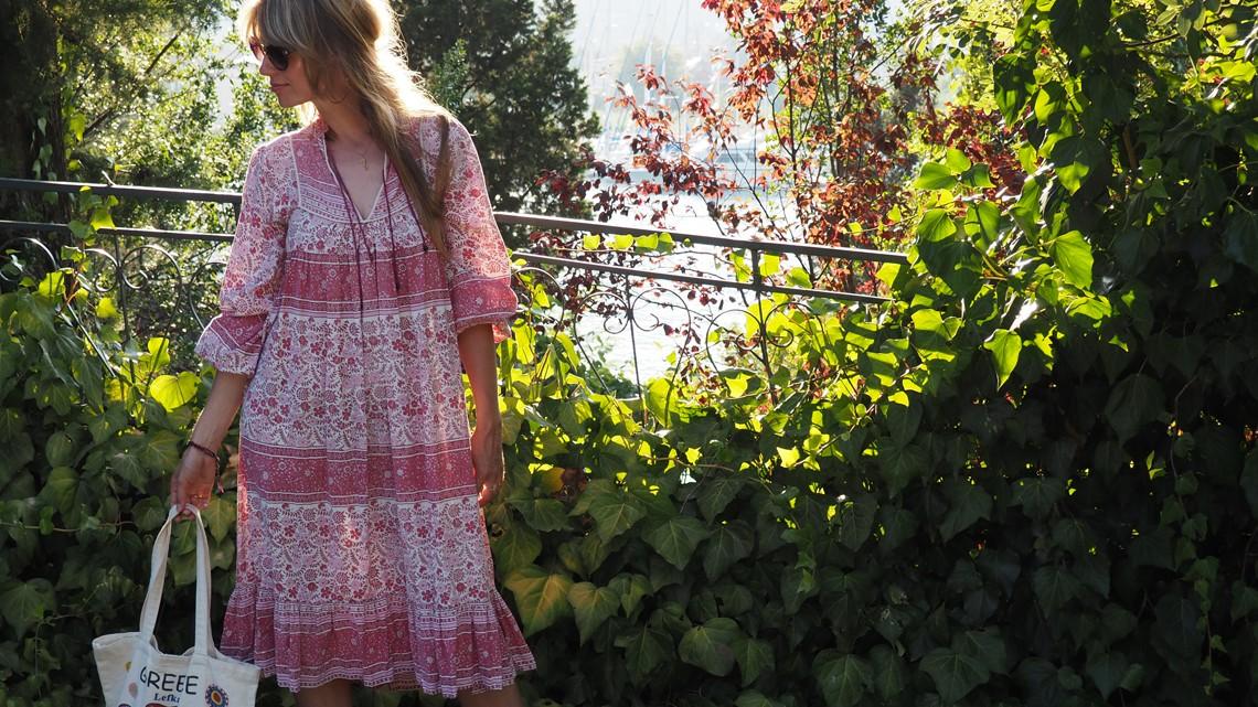 Outfit: Vintage-Hippie-Kleid