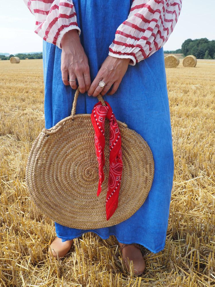Trägerkleid kombinieren_Clogs Monki_Tasche Vintage via Hook&Hand_golden cage_2