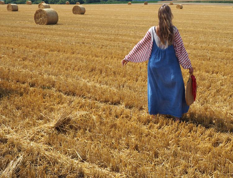 Trägerkleid kombinieren_Streifenbluse_Mes Demoiselles_Kleid 9 Seed_golden cage_3