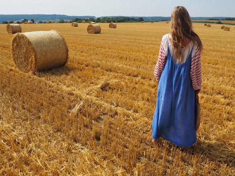 Trägerkleid kombinieren_Streifenbluse_Mes Demoiselles_Kleid 9 Seed_golden cage_2