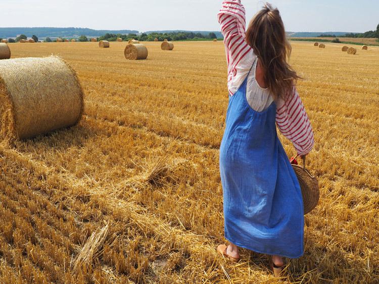 Trägerkleid kombinieren_Streifenbluse_Mes Demoiselles_Kleid 9 Seed_golden cage_8