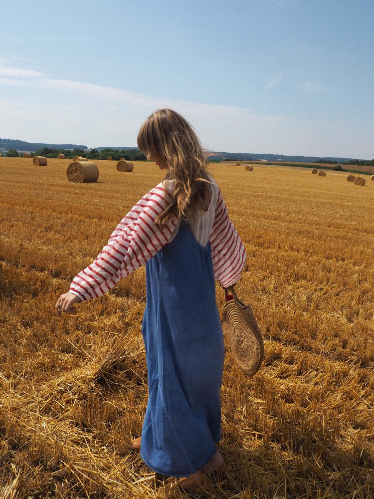 Trägerkleid kombinieren_Streifenbluse_Mes Demoiselles_Kleid 9 Seed_golden cage_14