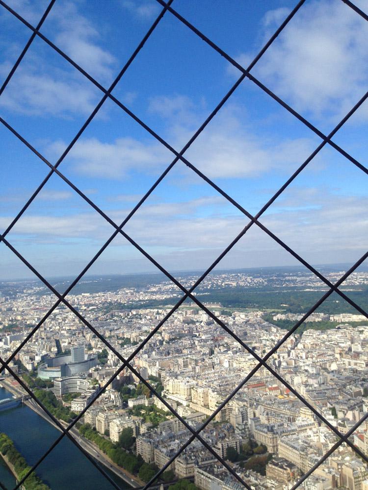 Paris_Blick vom Eiffelturm_oberste Plattform_golden cage