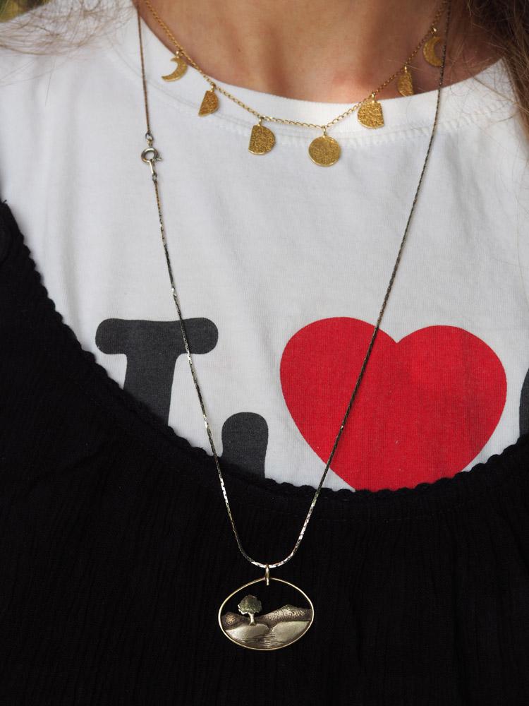 T-Shirt_Layering_Schmuck Vintage_Loca Luna Jewelry_golden cage
